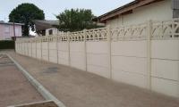 классический бетонный забор